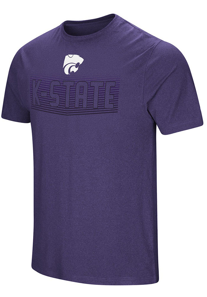 Colosseum K-State Wildcats Purple ELECTRICITY Short Sleeve T Shirt - Image 1