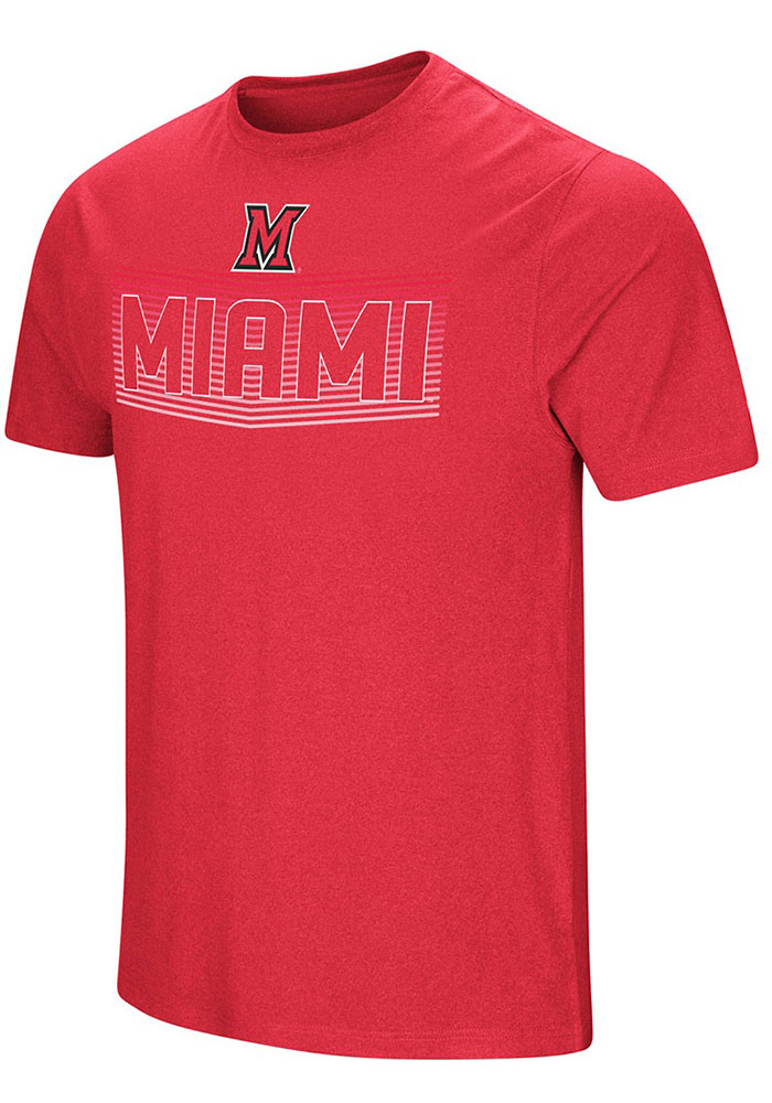 Colosseum Miami Redhawks Red ELECTRICITY Short Sleeve T Shirt - Image 1