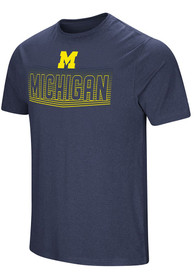 Colosseum Michigan Wolverines Navy Blue ELECTRICITY Tee