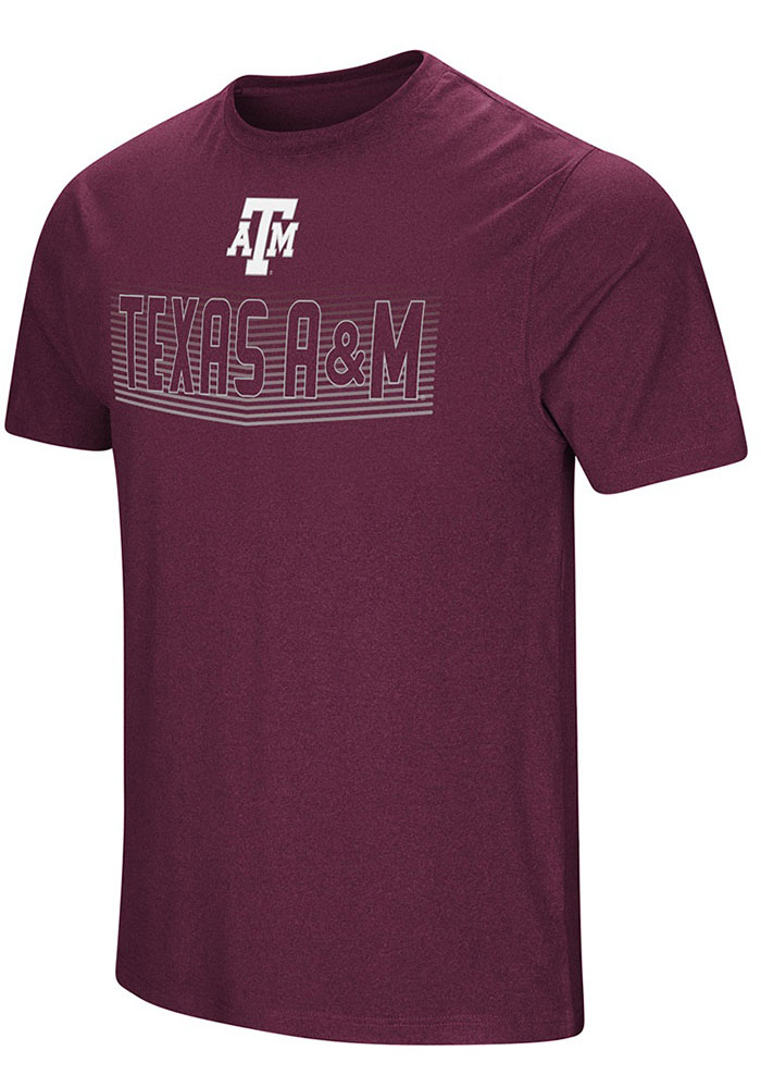 Colosseum Texas A&M Aggies Maroon ELECTRICITY Short Sleeve T Shirt - Image 1