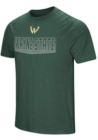 Colosseum Wayne State Warriors Green ELECTRICITY Tee