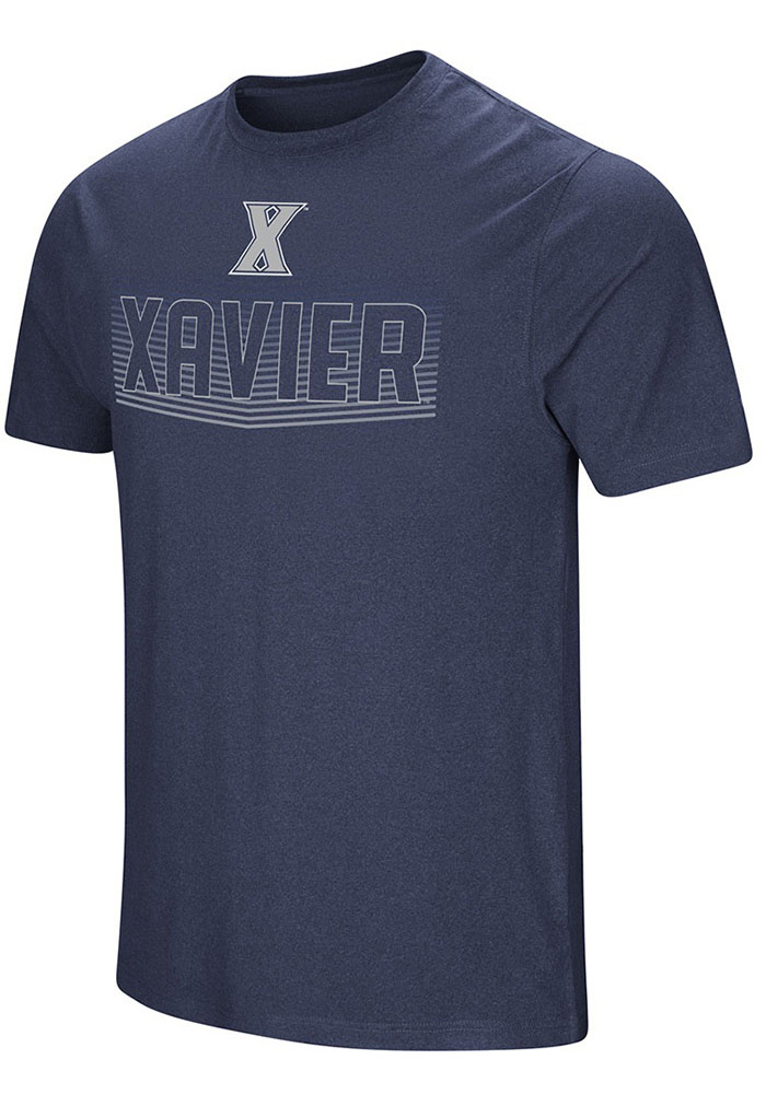 Colosseum Xavier Musketeers Navy Blue ELECTRICITY Short Sleeve T Shirt - Image 1