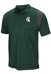 Colosseum Michigan State Spartans Mens Green Drive Short Sleeve Polo