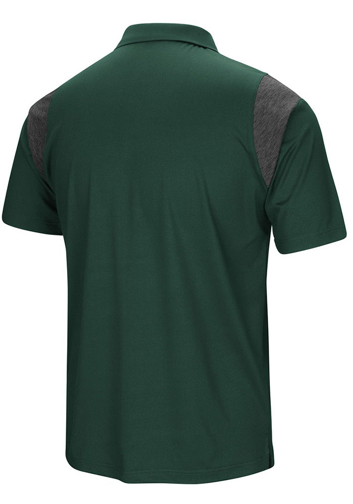 Colosseum Michigan State Spartans Mens Green Drive Short Sleeve Polo - Image 2
