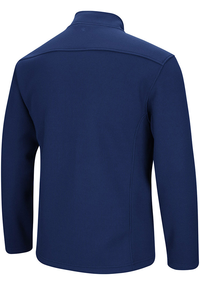 Colosseum Michigan Wolverines Mens Navy Blue Townie Long Sleeve 1/4 Zip Pullover - Image 2