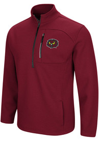 Temple Owls Colosseum Townie 1/4 Zip Pullover - Maroon