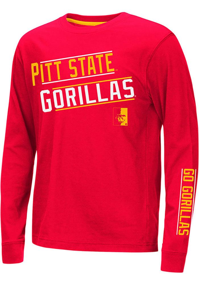 Colosseum Pitt State Gorillas Youth Red Groomed Long Sleeve T-Shirt - Image 1