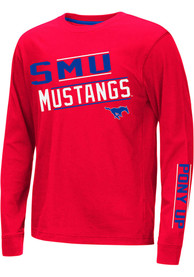 SMU Mustangs Youth Colosseum Groomed T-Shirt - Red