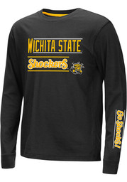 Colosseum Wichita State Shockers Youth Black Groomed Long Sleeve T-Shirt