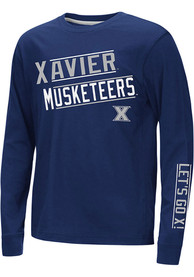 Xavier Musketeers Youth Colosseum Groomed T-Shirt - Navy Blue