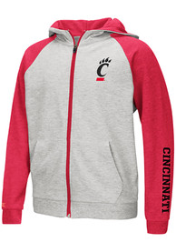 Cincinnati Bearcats Youth Colosseum Parabolic Full Zip Jacket - Grey