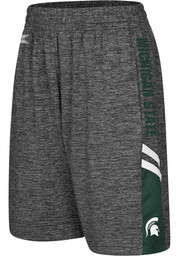 Colosseum Michigan State Spartans Youth Charcoal Summer School Shorts