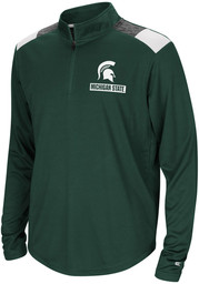 Colosseum Michigan State Spartans Youth Green 99 Yards Long Sleeve Quarter Zip Shirt