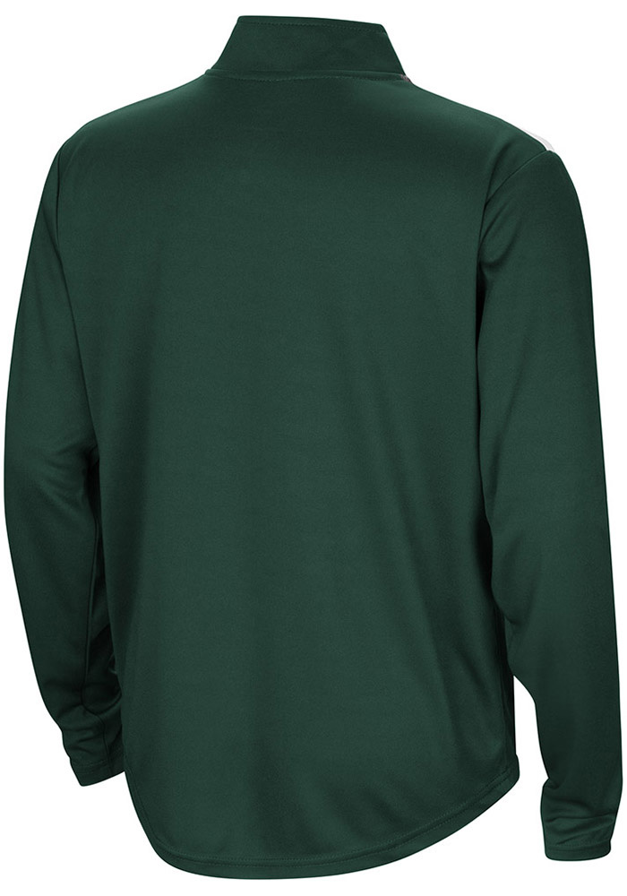 Colosseum Michigan State Spartans Youth Green 99 Yards Long Sleeve Quarter Zip Shirt - Image 2