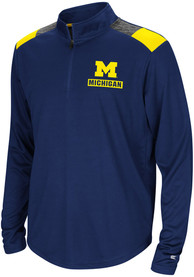 Michigan Wolverines Youth Colosseum 99 Yards Quarter Zip - Navy Blue