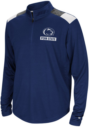 Colosseum Penn State Nittany Lions Youth 99 Yards Navy Blue Quarter Zip Shirt