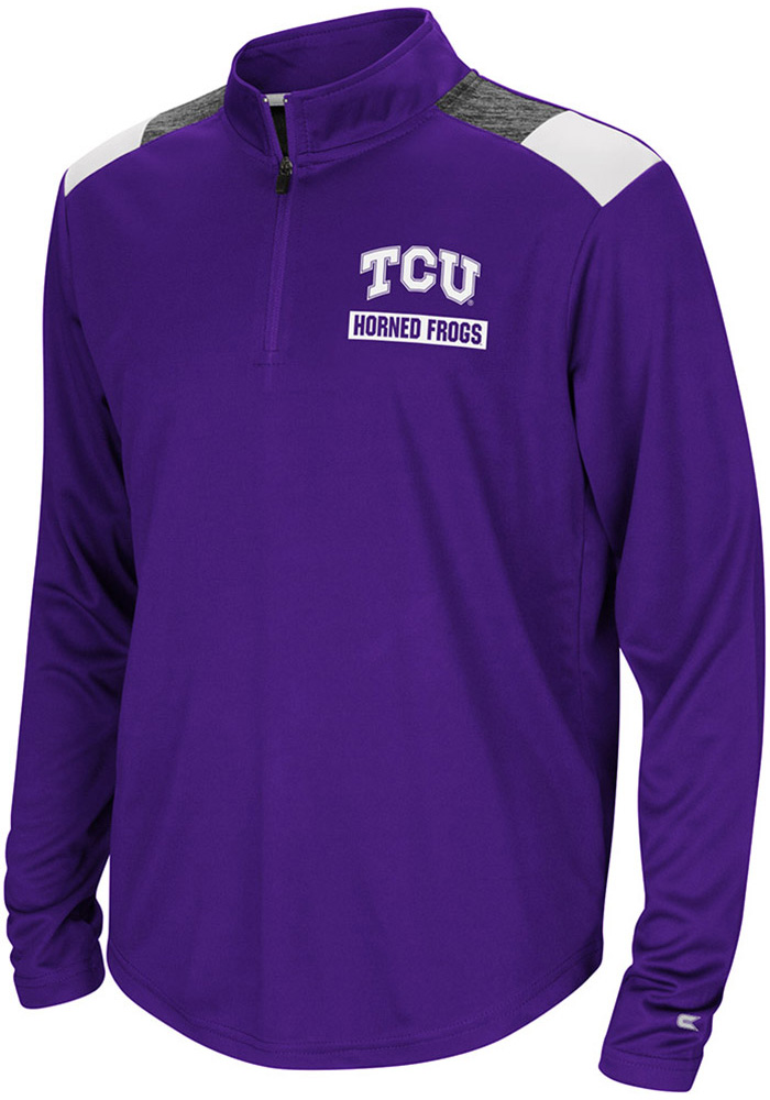 Colosseum TCU Horned Frogs Youth Purple 99 Yards Long Sleeve Quarter Zip Shirt - Image 1