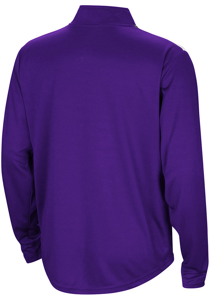 Colosseum TCU Horned Frogs Youth Purple 99 Yards Long Sleeve Quarter Zip Shirt - Image 2