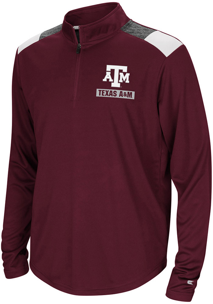 Colosseum Texas A&M Aggies Youth Maroon 99 Yards Long Sleeve Quarter Zip Shirt - Image 1