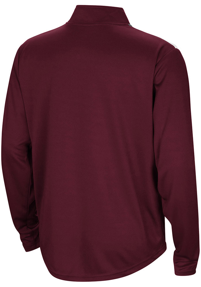 Colosseum Texas A&M Aggies Youth Maroon 99 Yards Long Sleeve Quarter Zip Shirt - Image 2
