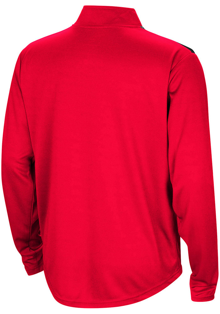 Colosseum Texas Tech Red Raiders Youth Red 99 Yards Long Sleeve Quarter Zip Shirt - Image 2