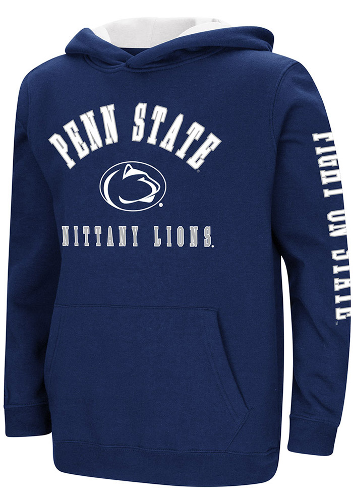 Penn State Nittany Lions Youth Colosseum Berminator Hooded Sweatshirt - Navy Blue