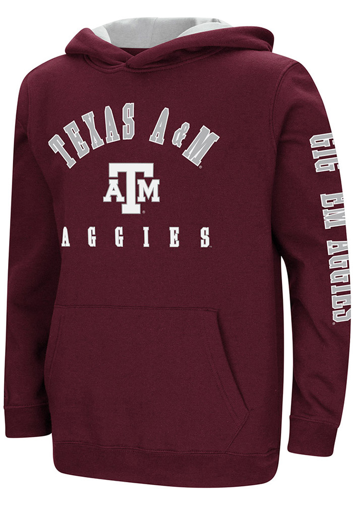 Texas A&M Aggies Youth Colosseum Berminator Hooded Sweatshirt - Maroon