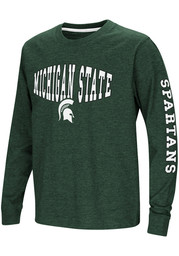 Colosseum Michigan State Spartans Youth Green Spike Long Sleeve T-Shirt