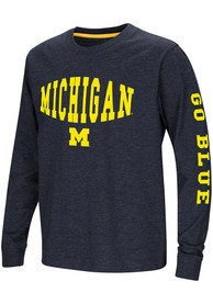 Michigan Wolverines Youth Colosseum Spike T-Shirt - Navy Blue