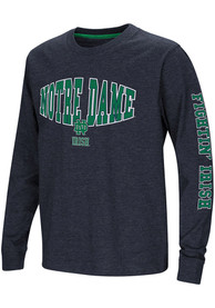 Notre Dame Fighting Irish Youth Colosseum Spike T-Shirt - Navy Blue