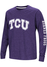 separation shoes 74bc2 23172 Colosseum TCU Horned Frogs Youth Purple Spike T-Shirt