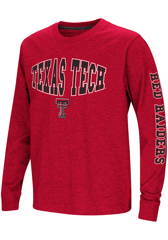 Colosseum Texas Tech Red Raiders Youth Red Spike Long Sleeve T-Shirt - Image 1