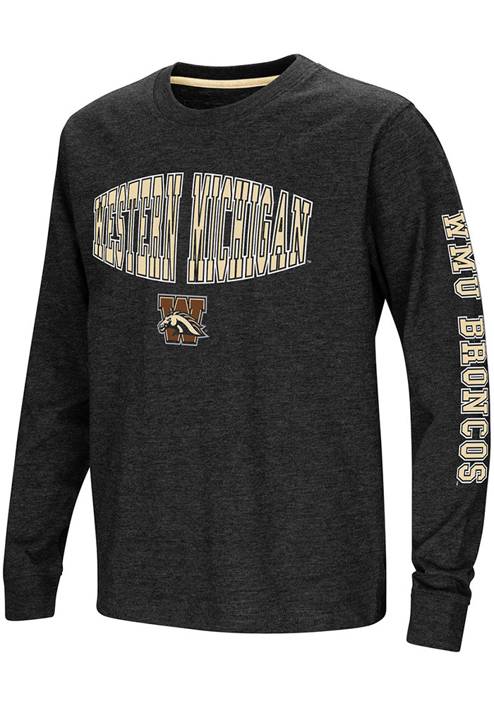 Colosseum Western Michigan Broncos Youth Brown Spike Long Sleeve T-Shirt - Image 1