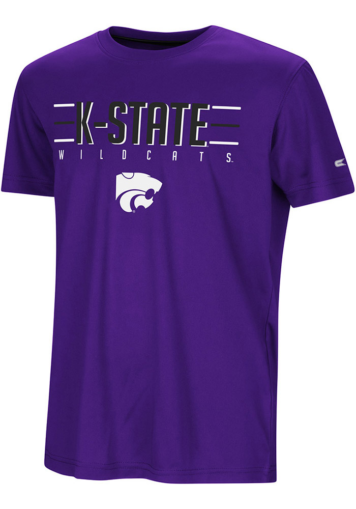 Colosseum K-State Wildcats Youth Purple Anytime Anywhere Short Sleeve T-Shirt - Image 1