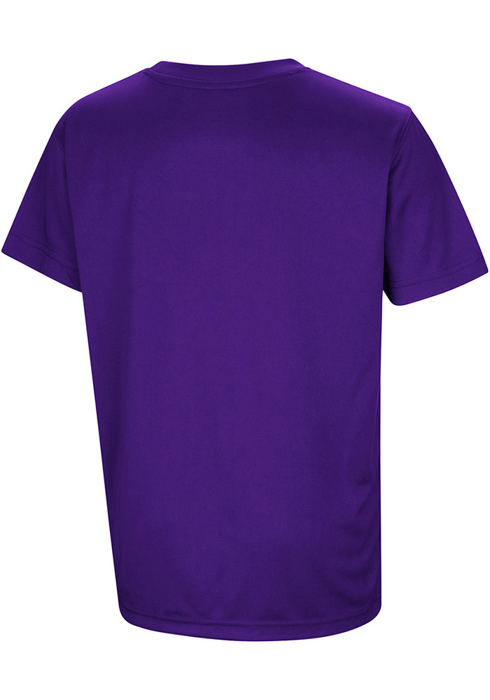 Colosseum K-State Wildcats Youth Purple Anytime Anywhere Short Sleeve T-Shirt - Image 2