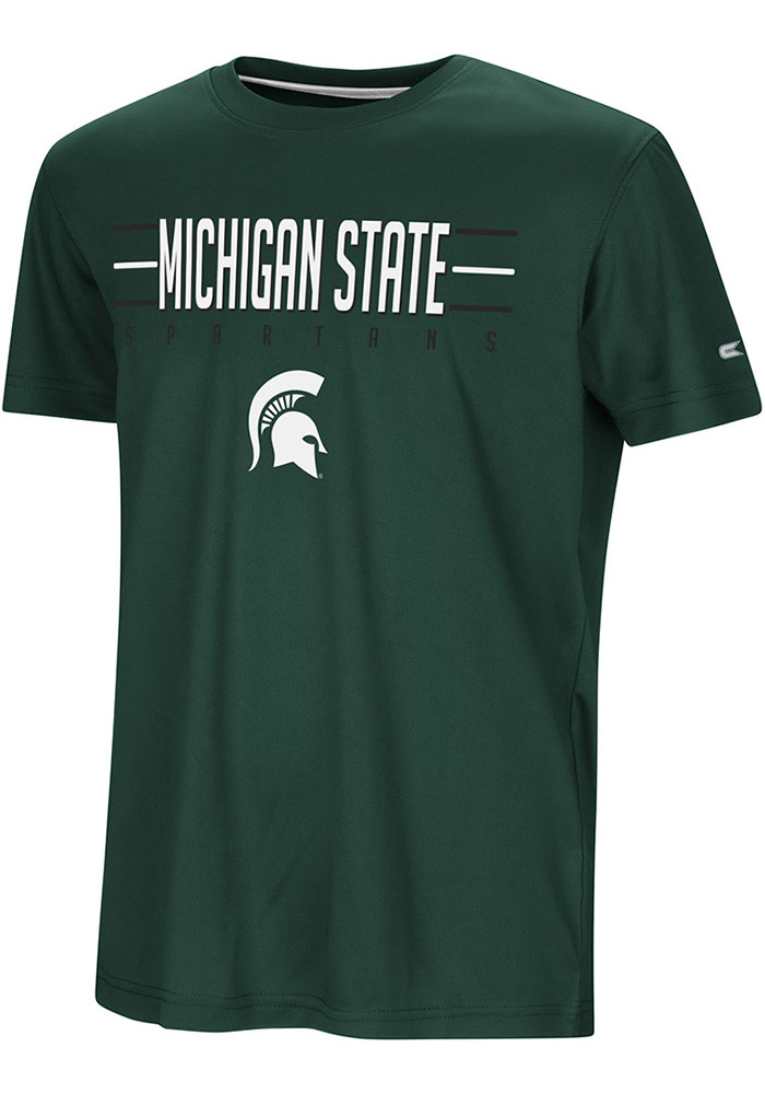 Colosseum Michigan State Spartans Youth Green Anytime Anywhere Short Sleeve T-Shirt - Image 1