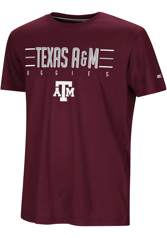 Colosseum Texas A&M Aggies Youth Maroon Anytime Anywhere Short Sleeve T-Shirt - Image 1