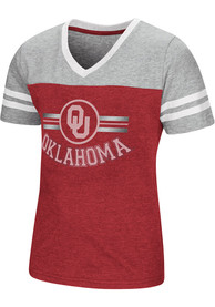 Oklahoma Sooners Girls Colosseum Pee Wee Fashion T-Shirt - Crimson