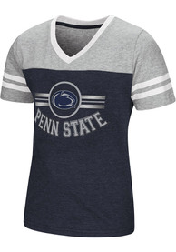 Colosseum Penn State Nittany Lions Girls Navy Blue Pee Wee Fashion T-Shirt