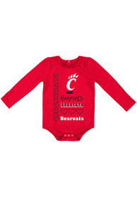 Cincinnati Bearcats Baby Colosseum Its Still Good LS One Piece - Red