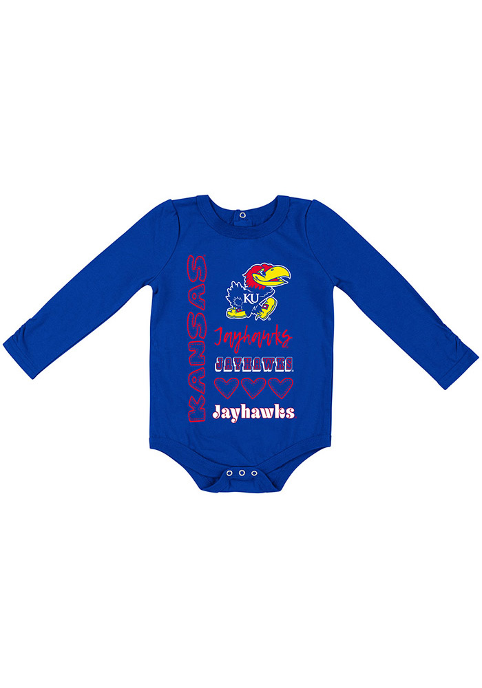 Colosseum Kansas Jayhawks Baby Blue Its Still Good LS Tops LS One Piece - Image 1