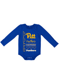 Pitt Panthers Baby Colosseum Its Still Good LS One Piece - Blue