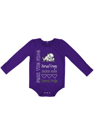 TCU Horned Frogs Baby Colosseum Its Still Good LS One Piece - Purple