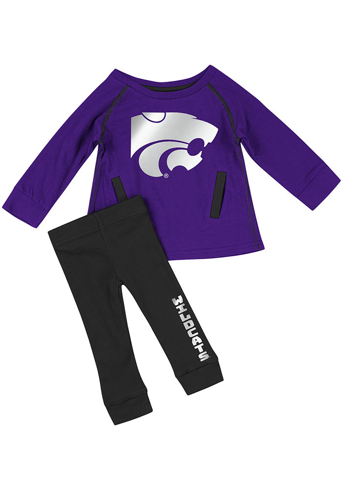 Colosseum K-State Wildcats Infant Girls Purple Nice Kick Set Top and Bottom - Image 1