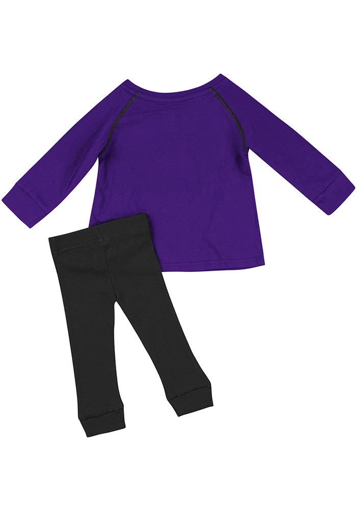 Colosseum K-State Wildcats Infant Girls Purple Nice Kick Set Top and Bottom - Image 2