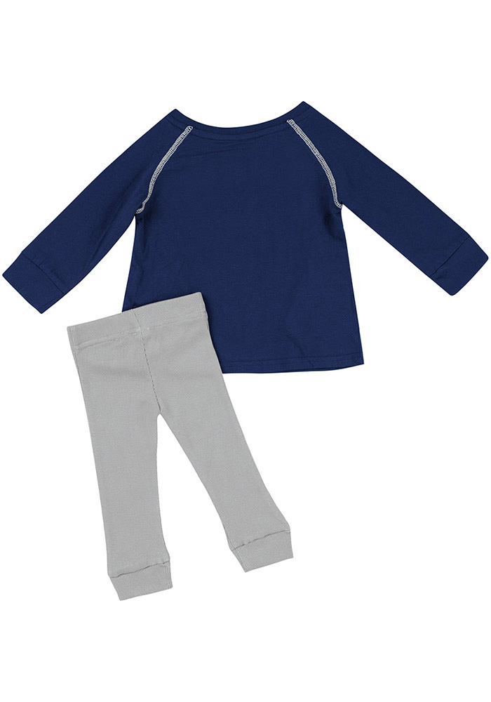 Colosseum Penn State Nittany Lions Infant Girls Navy Blue Nice Kick Set Top and Bottom - Image 2