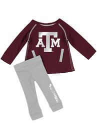 Texas A&M Aggies Infant Girls Colosseum Nice Kick Top and Bottom - Maroon