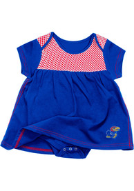 Kansas Jayhawks Baby Girls Colosseum One Time Dress - Blue