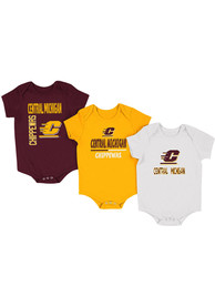 Central Michigan Chippewas Baby Maroon Ahhhhh One Piece