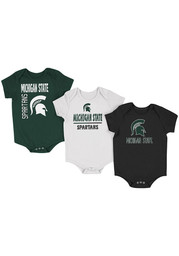 Michigan State Spartans Baby Green Ahhhhh One Piece
